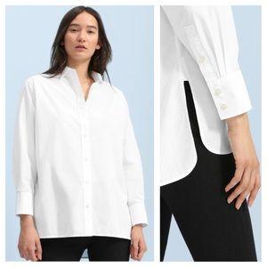 Everlane The Poplin Oversized Shirt White T9